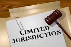 Inskränkt jurisdiktion - lagligt begrepp vektor illustrationer