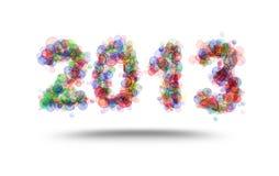 Inskrift 2013 gjorde av kulöra cirklar Royaltyfri Fotografi