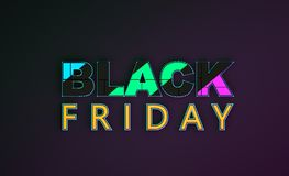 Inskrift Black Friday royaltyfri illustrationer