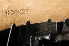 Inskrift på en skrivmaskin Fotografering för Bildbyråer