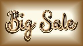Inskriften bästa Sale är lyxig av skinande guld på ett tråkigt G Royaltyfri Fotografi
