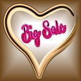 Inskriften bästa Sale är lyxig från prydde med ädelsten stenar från Royaltyfria Bilder