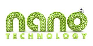 inskriftnanotechnology royaltyfri illustrationer