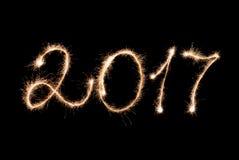 2017 inskrypcj sparklers Zdjęcie Royalty Free