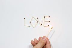 Inskrypcja dopasowania: miłość Zdjęcia Royalty Free