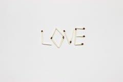 Inskrypcja dopasowania: miłość Obrazy Royalty Free