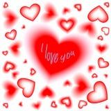 inskrypcja Dzień walentynka Serca 2007 pozdrowienia karty szczęśliwych nowego roku Wektorowy illyu ilustracji