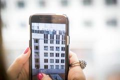 Inskrypcja kleiąca okno administracyjny budynek w Bruksela, Belgia/06 27 2016 który mówi Anglia do widzenia, Obraz Stock