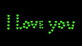 inskrypcja kocham ciebie z sercami ilustracja wektor