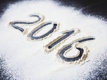 Inskrypcja 2016 mąka Zdjęcia Stock
