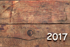 2017 inskrypcja Na drewnie Obrazy Royalty Free