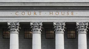 Inskrypcja na gmachu sądu obraz royalty free