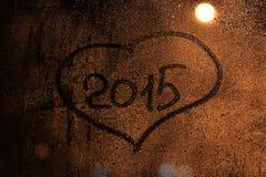 Inskrypcja na mokrym szkle Zdjęcie Royalty Free