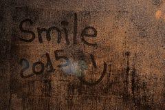 Inskrypcja na mokrym szkle Fotografia Royalty Free