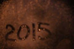 Inskrypcja na mokrym szkle Zdjęcie Stock