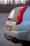 Inskrypcja na szkle samochodowy obmycie ja Fotografia Royalty Free