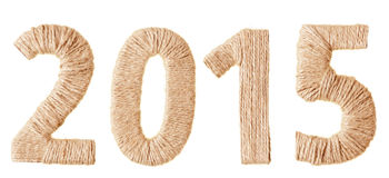 Inskrypcja 2015 od tkaniny Zdjęcie Royalty Free
