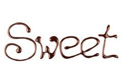 Inskrypcja rozciekła czekolada Zdjęcie Stock