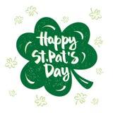 Inskrypcja St Patrick dzień Zdjęcie Royalty Free