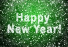 Inskrypcja Szczęśliwy nowy rok Zdjęcie Royalty Free