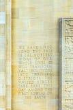 Inskrypcja w ścianie zdjęcia stock