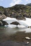 Insnöad sommar Pyreneesna Fotografering för Bildbyråer