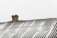 Insnöad vinter arkivfoto