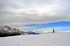 Insnöat bergen Royaltyfri Fotografi