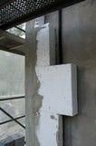 Insolating ein Gebäude mit Styroschaum Stockfotos