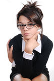 Insolent businesswoman in glasses Stock Photography