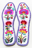 Insoles. Chinese traditional embroidery insoles, art, it is very beautiful Stock Photo