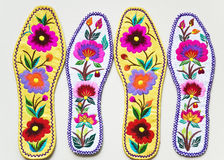 Insoles. Chinese traditional embroidery insoles, art, it is very beautiful Royalty Free Stock Photo