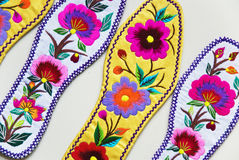 Insoles. Chinese traditional embroidery insoles, art, it is very beautiful Royalty Free Stock Images