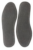 Insoles. Pair black of inner soles for the foot-wear Royalty Free Stock Photo