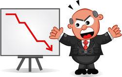 Boss is Angry at Chart Stock Photography