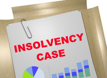 Insolvency Case - business concept Royalty Free Stock Photo