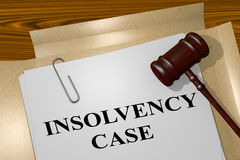 Insolvency Case - legal concept. 3D illustration of INSOLVENCY CASE title on legal document Stock Photo