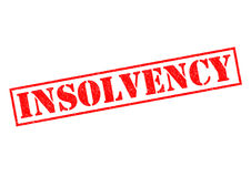 INSOLVENCY. Red Rubber Stamp over a white background Stock Images