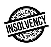 Insolvency rubber stamp. Grunge design with dust scratches. Effects can be easily removed for a clean, crisp look. Color is easily changed Stock Images