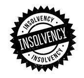 Insolvency rubber stamp. Grunge design with dust scratches. Effects can be easily removed for a clean, crisp look. Color is easily changed Stock Photos
