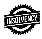 Insolvency rubber stamp. Grunge design with dust scratches. Effects can be easily removed for a clean, crisp look. Color is easily changed Stock Photography