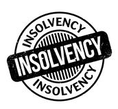Insolvency rubber stamp. Grunge design with dust scratches. Effects can be easily removed for a clean, crisp look. Color is easily changed Royalty Free Stock Photo