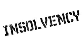 Insolvency rubber stamp Royalty Free Stock Image