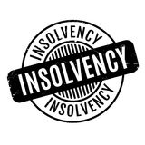 Insolvency rubber stamp Stock Photos