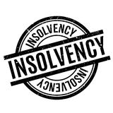 Insolvency rubber stamp Stock Photography