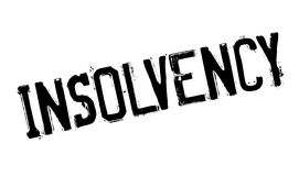 Insolvency rubber stamp Stock Photo