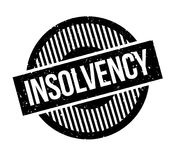 Insolvency rubber stamp. Grunge design with dust scratches. Effects can be easily removed for a clean, crisp look. Color is easily changed Royalty Free Stock Photography