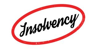 Insolvency rubber stamp. Grunge design with dust scratches. Effects can be easily removed for a clean, crisp look. Color is easily changed Stock Image
