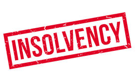 Insolvency rubber stamp Stock Images