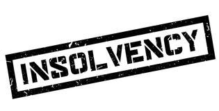 Insolvency rubber stamp Royalty Free Stock Images